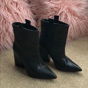 Zara Pull on Black Booties